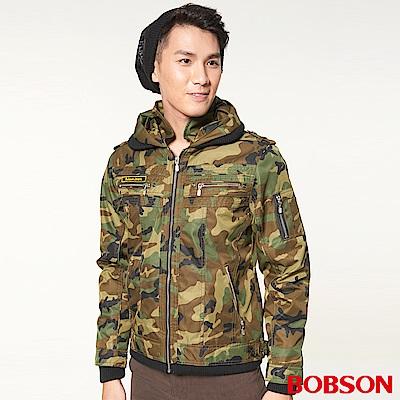 BOBSON-男款迷彩鋪棉短外套-迷彩42