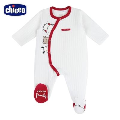 chicco-小乳牛-夾棉前側開兔裝