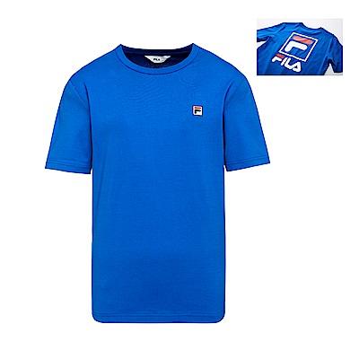 FILA 背面大LOGO圓領T恤-寶藍 1TET-1503-AB