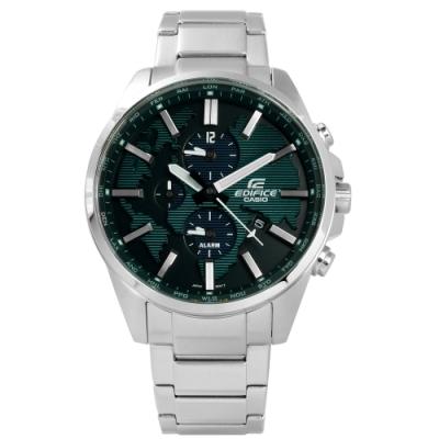 EDIFICE CASIO 卡西歐 三環不鏽鋼手錶-綠色/44mm ETD-300D-3A