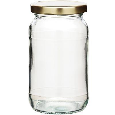 KitchenCraft 旋蓋玻璃密封罐(金454ml)