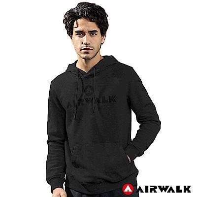 【AIRWALK】男款連帽印花T-黑色