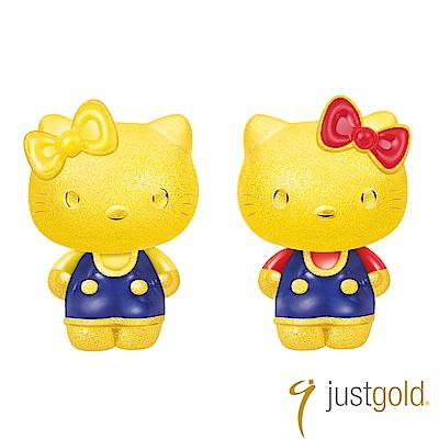 鎮金店Just Gold Lovely Twins 雙胞胎純金系列 黃金耳環