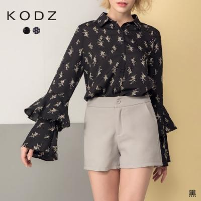 東京著衣-KODZ 個性時髦傘袖圖騰襯衫-S.M.L