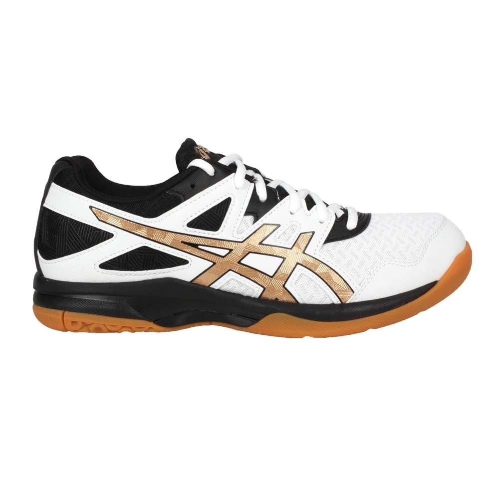 ASICS GEL-TASK 2 男排羽球鞋-排球 訓練 羽毛球 亞瑟士 1071A037-102 白黑金