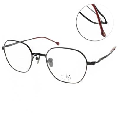 MA-JI MASATOMO 眼鏡  復古雕刻多邊款/紅-黑#PMJ049 C04