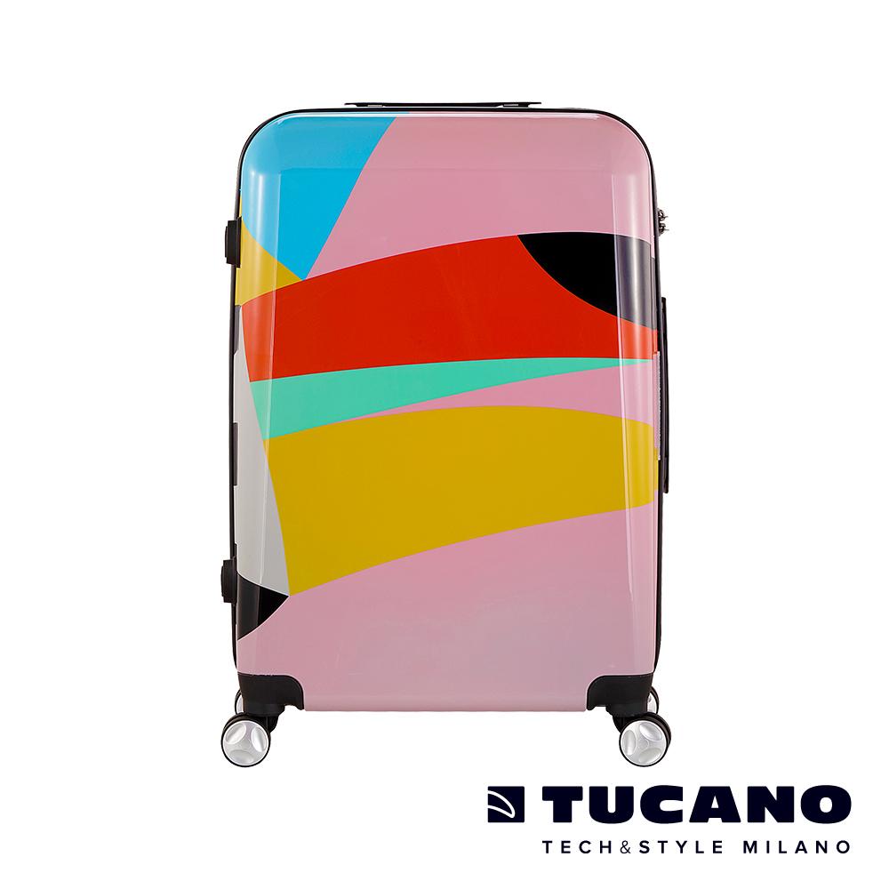 TUCANO X MENDINI 24吋拉鍊式硬殼登機行李箱-繽紛粉彩