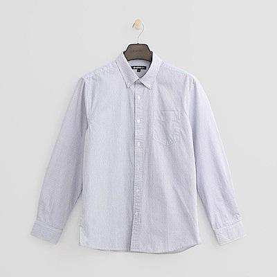 Hang Ten - 男裝 - 都會條紋休閒襯衫-藍色