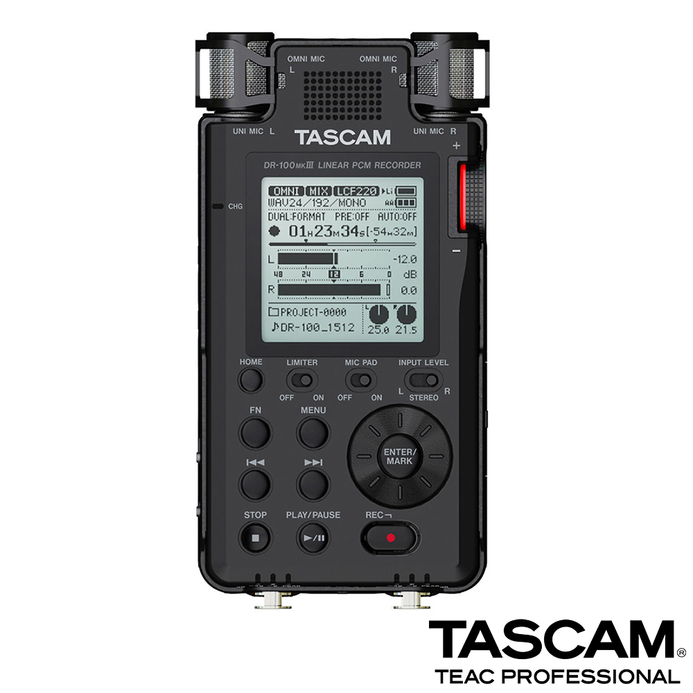 【日本TASCAM】攜帶型數位錄音機 DR-100MK3