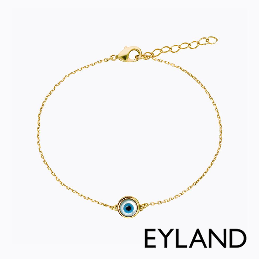 Eyland英國倫敦 ELVAS 綠松石獨眼鍍金手鍊