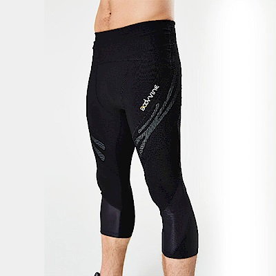 BodyVine巴迪蔓 男款運動壓縮七分褲(骨盆/髖關節與大腿穩固)