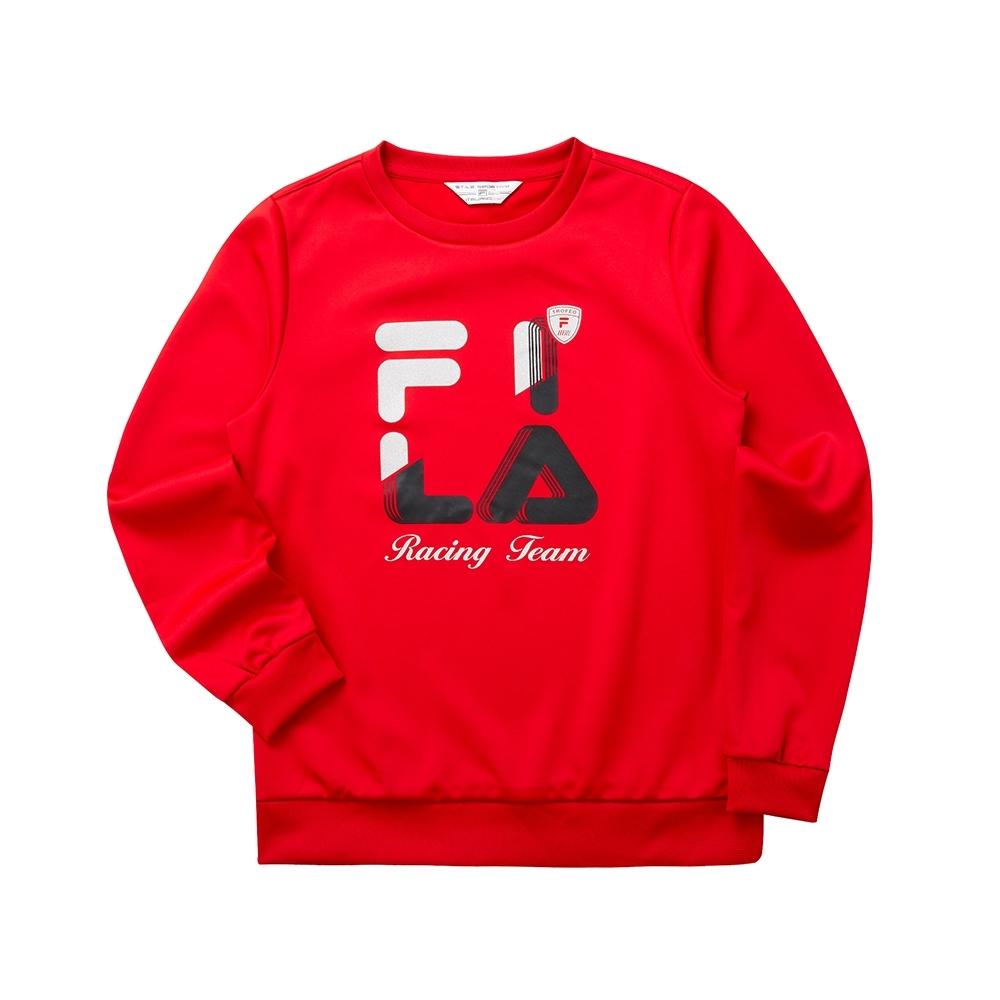 FILA 女圓領T恤-紅色 5TET-5481-RD