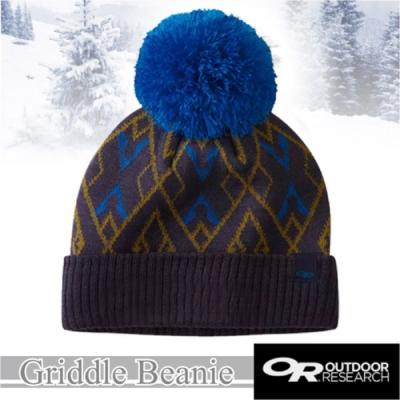 Outdoor Research 新款 Griddle Beanie 羊毛冬日復古小圓球毛帽.保暖針織帽.毛線帽.羊毛帽_暮光藍