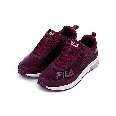 FILA 女半氣墊慢跑鞋-桃紫 5-J703T-771