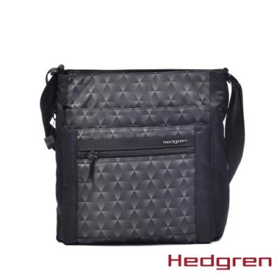 【Hedgren】方塊黑多層收納斜背包 - HIC370 ORVA