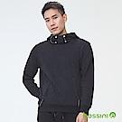 bossini男裝-厚棉連帽上衣02黑