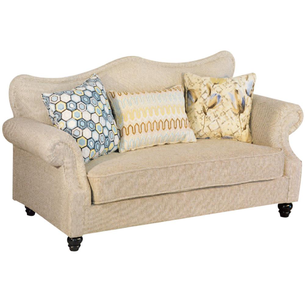 綠活居 尼加時尚亞麻布二人座沙發椅-167x85x86cm免組