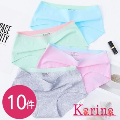 限時激降!舒適撞色親膚棉三角內褲(10件) Karina