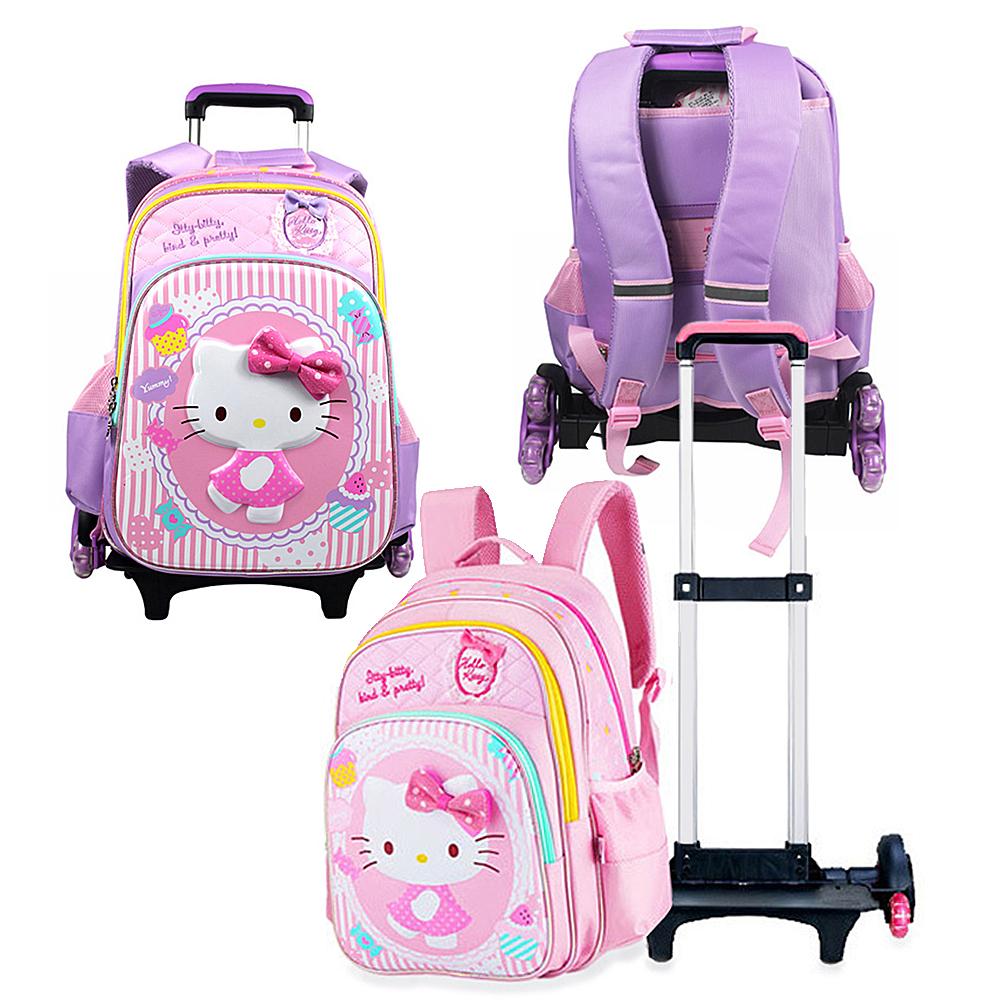 【Hello Kitty】可拆分離式爬樓梯拉桿書包 共3色