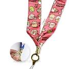 正版授權 角落小夥伴 可拆式 絲緞手機長吊繩 手機萬用掛繩 證件掛繩 穿搭配件吊飾(貓貓)