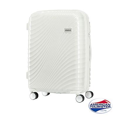 AT美國旅行者 24吋Erie流線硬殼飛機輪可擴充TSA行李箱(象牙白)