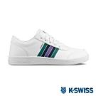 K-SWISS Court Clarkson S 休閒運動鞋-男-白/紫/綠