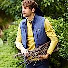 FILA 男款平織鋪棉背心-藍 1VES-5102-BU