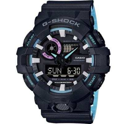 CASIO G-SHOCK 霓虹派對雙顯運動錶(GA-700PC-1A)