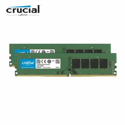 Micron Crucial DDR4 3200/16G(8G*2)雙通道RAM(原生3200顆粒)