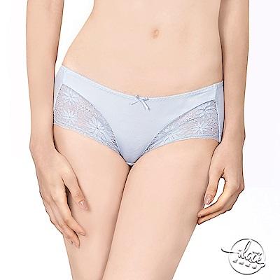 LADY 花影情挑系列 中低腰平口內褲(灰影藍)