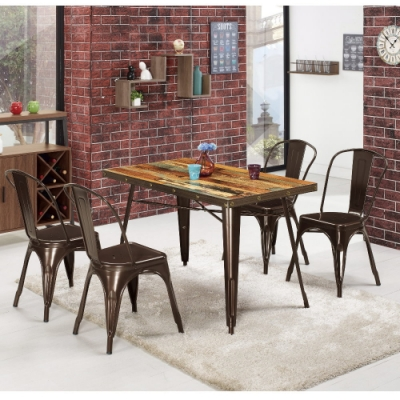 MUNA 傑克4尺商業桌(1桌4椅) 120X70X75cm
