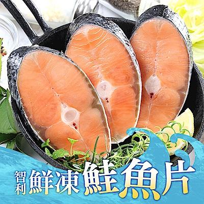 (任選)愛上新鮮-鮮凍智利鮭魚(2片裝/250g±10%/包)