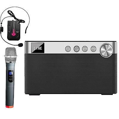 大聲公欣聲型無線式多功能手提行動音箱/喇叭(手持+耳掛組)