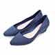 TTSNAP雨鞋-晴雨兩用粉嫩低跟防水鞋 藍 product thumbnail 1