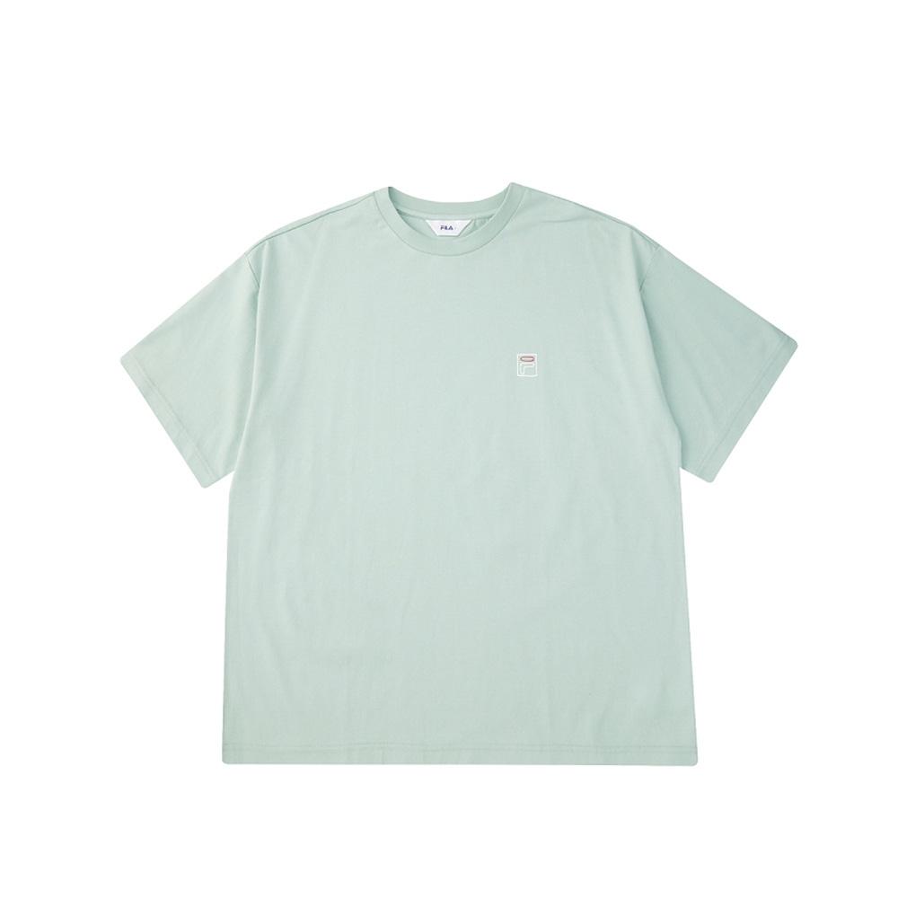 FILA 短袖圓領上衣-粉綠 1TEV-1506-LN