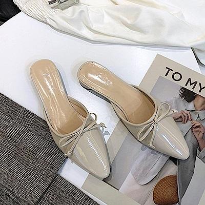 KEITH-WILL時尚鞋館 韓時尚舒適百搭軟皮尖頭鞋-米色