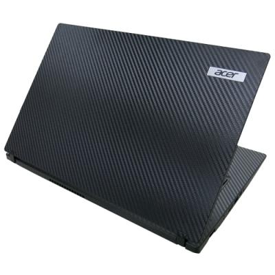 EZstick ACER TravelMate TMP2410 黑色立體紋機身貼