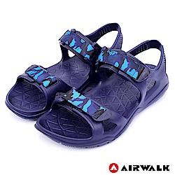 【AIRWALK】減壓緩震輕量休閒涼鞋-藍