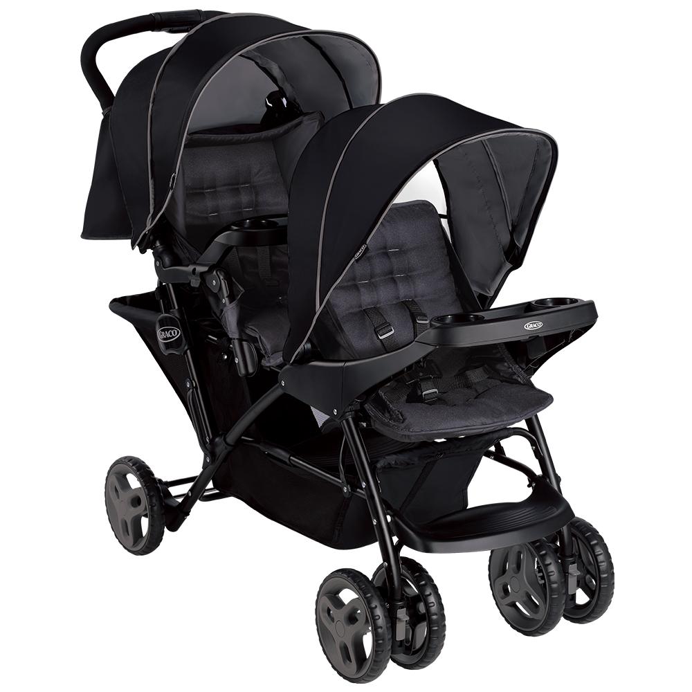 Graco 雙人前後座嬰兒手推車 Stadium Duo系列(探險黑)