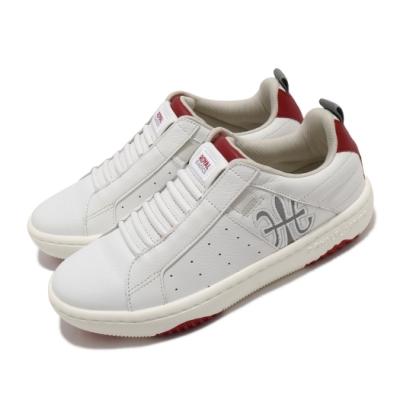 Royal Elastics 休閒鞋 Icon Manhood 2.0 女鞋 基本款 簡約 套腳 皮革 穿搭 舒適 白 紅 96502018