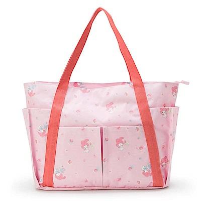 Sanrio 美樂蒂多口袋式大容量提袋(粉紅草莓)