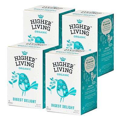 英國HIGHER LIVING 消化解膩有機茶包4件組(26gx4盒)