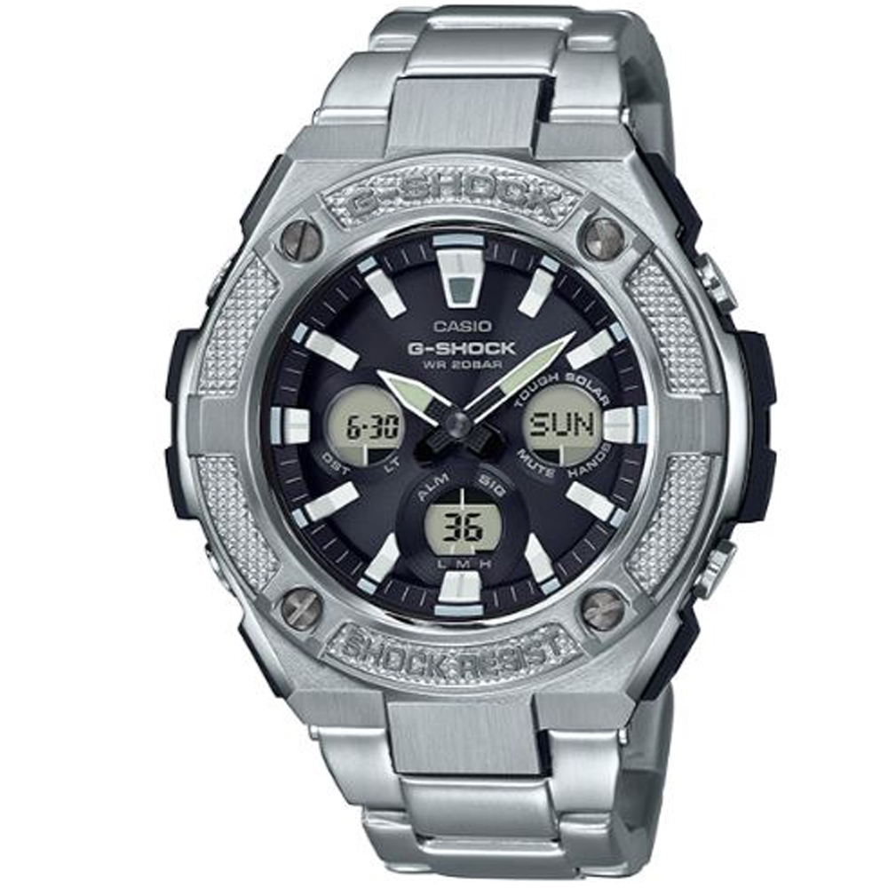G-SHOCK 絕對強悍太陽能電力不鏽鋼錶(GST-S330D-1A)/55.9mm product image 1