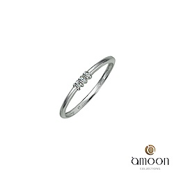 amoon 浪漫艾菲爾系列 光環 9K金鑽石戒指