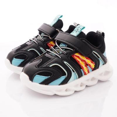 TOPUONE童鞋 LED炫彩電燈運動鞋 SI19559黑(小童段)