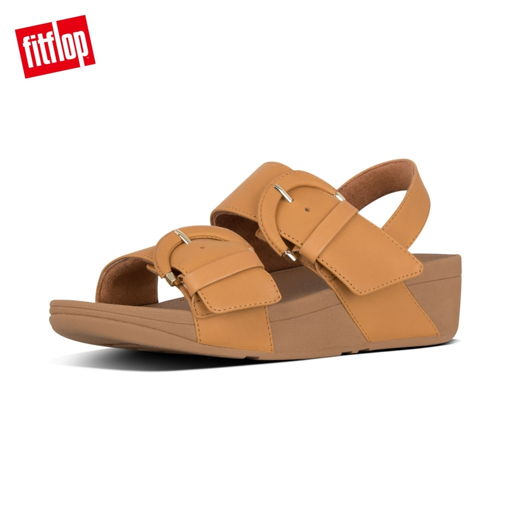 FitFlop AMALITA BUCKLE BACK STRAP SANDALS芥末