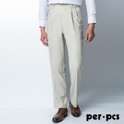 per-pcs 商務質男經典打摺西裝褲_米色(81232)