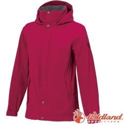 Wildland 荒野 W3911-09桃紅色 女單件式防水透氣外套/防風防雨