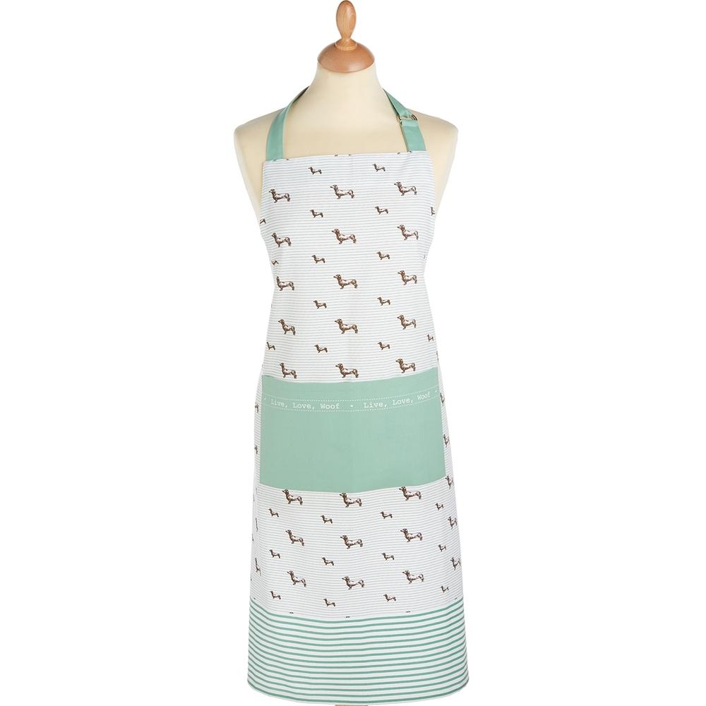 《KitchenCraft》平口單袋圍裙(臘腸狗)