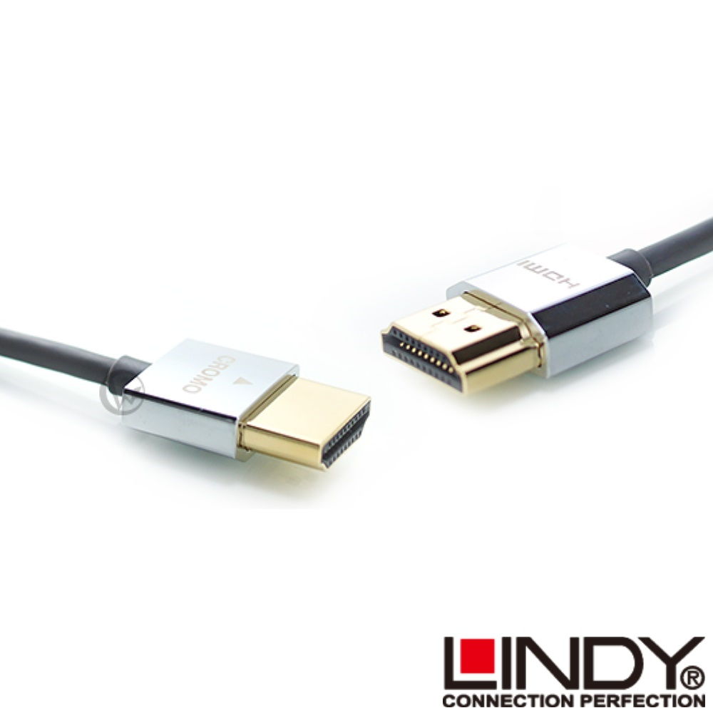 LINDY 林帝 CROMO鉻系列 極細型 A公對A公 HDMI 2.0 連接線【3m】41675